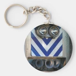 Train Face Basic Round Button Keychain