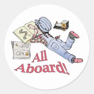 Train Fanatic Classic Round Sticker