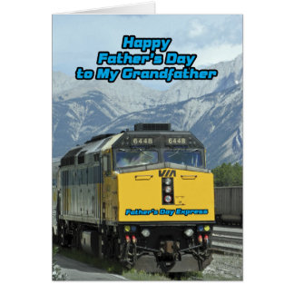 Train  Father's Day Express to Grandfather Card