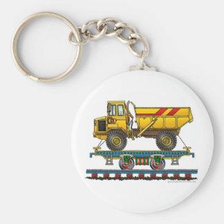 Train Flat Car Dump Truck Key Chains