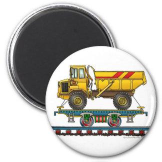 Train Flat Car Dump Truck Magnets