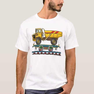 Train Flat Car With Dump Truck Railroad Apparel T-Shirt