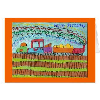 Train for a Happy Birthday Card