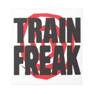 Train Freak Memo Note Pad