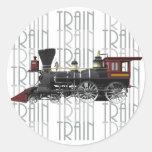 Train Gifts Round Sticker
