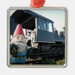 Train Gnome Christmas Tree Ornaments