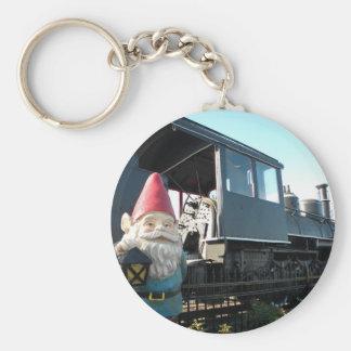 Train Gnome Keychain