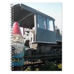 Train Gnome Spiral Note Book