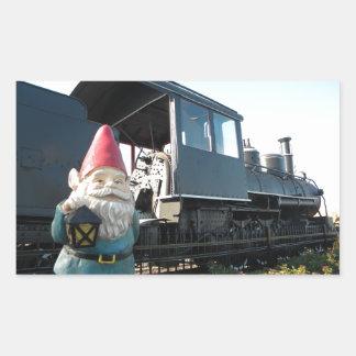 Train Gnome Rectangle Sticker