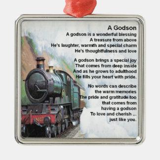 Train     Godson  Poem Metal Ornament