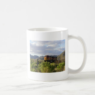Train Going Through Congress, Arizona Mugs