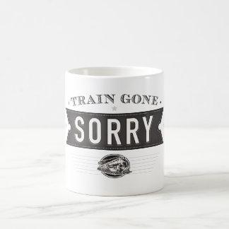 Train gone sorry. an ASL idiom on a mug. Basic White Mug