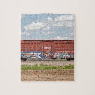 Train Graffiti Jigsaw Puzzle