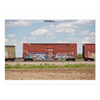 Train Graffiti Postcard