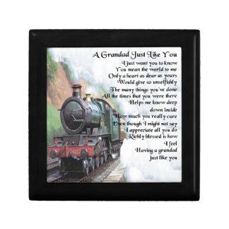 Train - Grandad Poem Jewelry Box