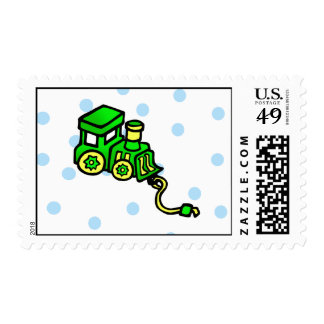 Train Green Postage
