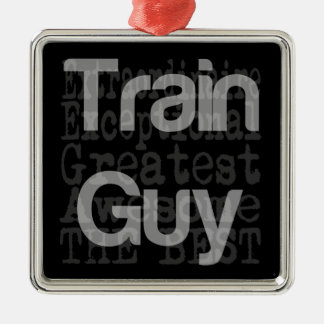 Train Guy Extraordinaire Metal Ornament