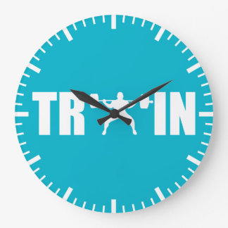 TRAIN - Gym Motivation Large Clock