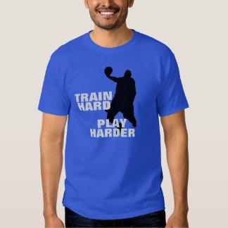 Train Hard Play Harder Basketball T-Shirt