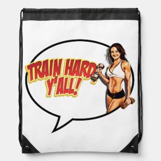 Train hard sling bag