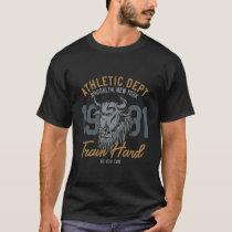 Train Hard Vintage Style Bull T-Shirt