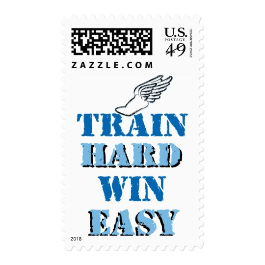 Train hard  Win Easy - Track and Field Postage