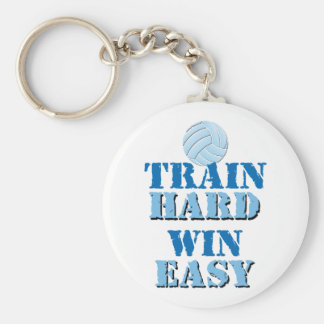 Train Hard, Win Easy - Volleyball Key Chains