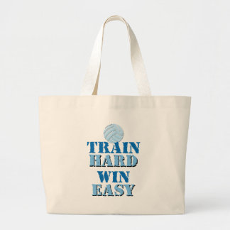 Train Hard, Win Easy - Volleyball Large Tote Bag
