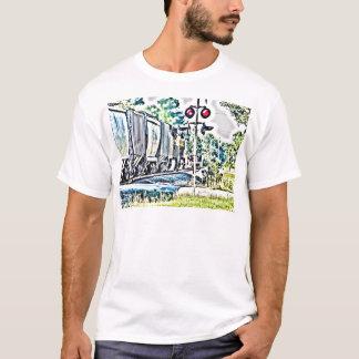 train HDRtone surealistic T-Shirt