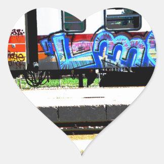 Train Heart Sticker