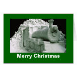 Train Ice Sculpture, Christmas Greeting Cards