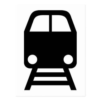 Train icon postcard