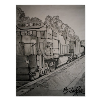 Train Illustration Posters