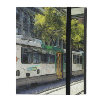 Train in Australian city iPad Folio Case