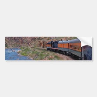 Train in Cany Background Background Bumper Sticker