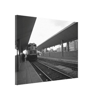 Train in Downtown Canvas Print