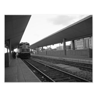 Train in Downtown Photo Art