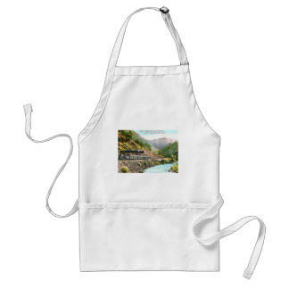 Train in Merced Canyon CA Vintage Aprons