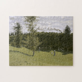 Train in the Countryside Monet Fine Art Puzzle
