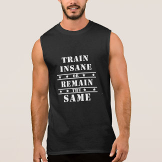 Train Insaiyan or Remain The Same Tattoed Style Sleeveless Shirt