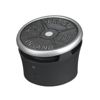 Train Insane (Barbell Plate) Workout Motivational Bluetooth Speaker