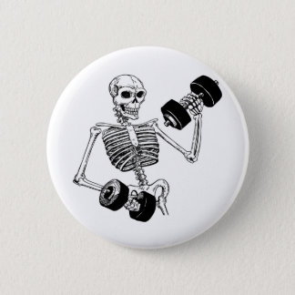 TRAIN INSANE BODYBUILDING LOGO PINBACK BUTTON