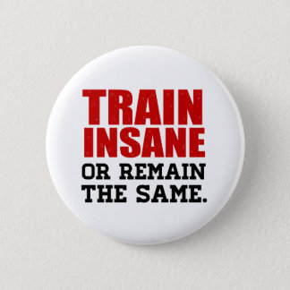 Train Insane or Remain the Same Pinback Button