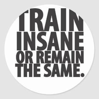 Train insane or remain the same sticker