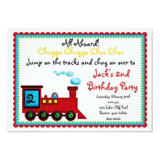 Train Invitations, Choo Choo Card