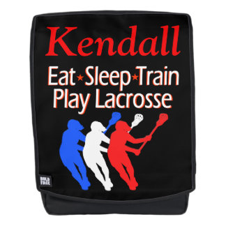 TRAIN LACROSSE PERSONALIZED BACKPACK