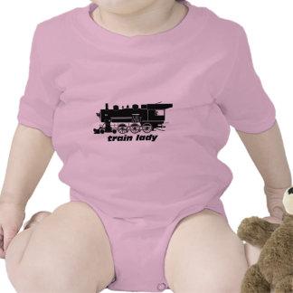 Train lady model railroading creeper