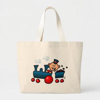 Train Large Tote Bag