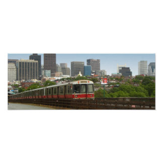 Train Leaving Boston Poster