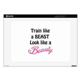 "Train Like A Beast 15"" Laptop Skin"